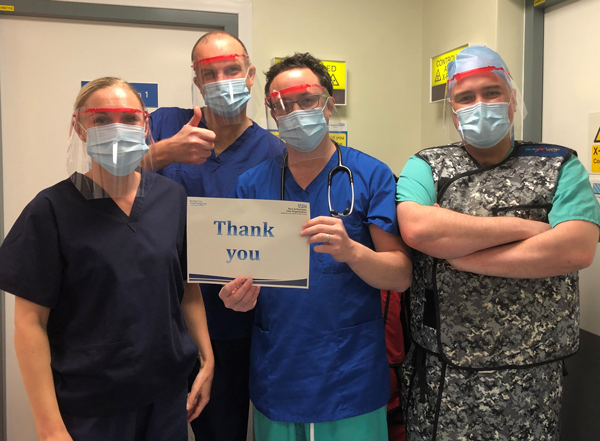 Heart doctors say thank you for PPE visors to treat coronavirus COVID-19